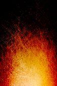 Grungy Scratched Bonfire