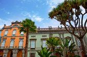 Las Palmas de Gran Canaria Vegueta colonial house facades Spain