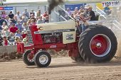 International Tractor Pulling Close View