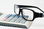 Glases And Calculator