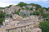 Panoramic view of Calcata. Lazio. Italy.