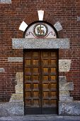 foto of castello brown  - one of the door in the church of san babila in milan - JPG