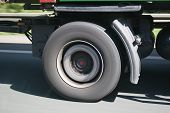 Truck Wheel On The Move