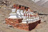 Buddhistic stupas (chorten) in Tibet
