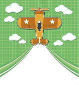 airplane toy cartoon background