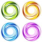 Abstract shiny circles. Vector background esp 10