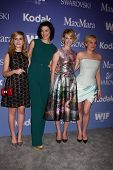 LOS ANGELES - JUN 12:  Kiernan Shipka, Jessica Pare, January Jones and Elisabeth Moss arrive at the