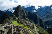stock photo of ancient civilization  - Machu Picchu the ancient Inca city in the Andes Peru - JPG