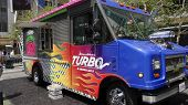 LOS ANGELES - JUN 12: Turbo Food Truck at the Turbo-Charged Party and Surpise Pop-Up concert at L.A.