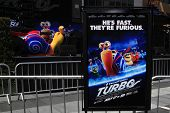 LOS ANGELES - JUN 12: Turbo, Poster at the Turbo-Charged Party and Surpise Pop-Up concert at L.A. Live for E3 Gaming Convention at Nokia Plaza L.A. LIVE on June 12, 2013 in Los Angeles, California