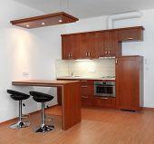 Modern small kitchen interior.