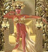 image of snake-head  - This is a depiction of an Egyptian queen who believed in the magical and sacred power of snakes - JPG