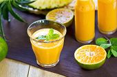 Pineapple With Orange And Mango Smoothie