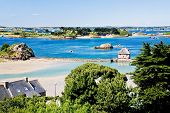 Rural Landscape On Atlantic Coastline In Brittany