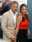 NEW YORK-JUNE 10: Actor Kevin Costner and wife Christine Baumgartner attend the world premiere of