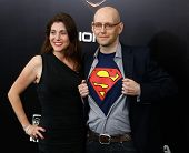 NEW YORK-JUNE 10: Novelist Brad Meltzer and wife Cori attend the world premiere of