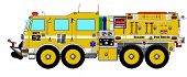 Yellow Brush Wildland Fire Truck