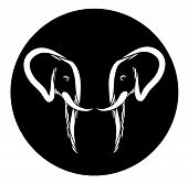 Elephant Head Emblem