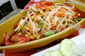 Thai Papaya Salad Also Known As Som Tum In Thailand.