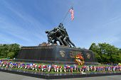 WASHINGTON DC - CIRCA MAY 2013: Iwo Jima Memorial circa May 2013 in Washington DC, USA. The Memorial
