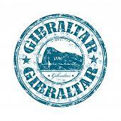 Sello de goma de grunge de Gibraltar