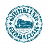 Gibraltar grunge rubber stamp