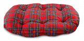 Dog pillow plaid pet bed
