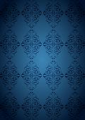 Ottoman Pattern and blue background