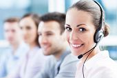 stock photo of coworkers  - Call center - JPG