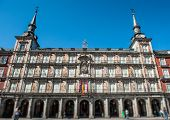 Plaza Mayor in Madrid, typical sight