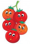 Vegetable theme image 1 - eps10 vector illustration.