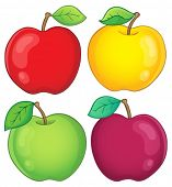 Various apples collection 2 - eps10 vector illustration.