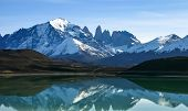 stock photo of lagos  - Lago Grey in the Torres del Paine national Park Patagonia Chile - JPG