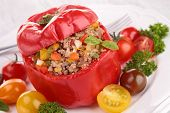 stuffed bell pepper with beef