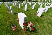 stock photo of arlington cemetery  - Arlington National Cemetery during Memorial day  - JPG
