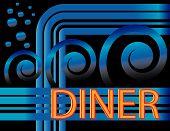 Blue Deco Diner