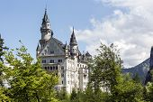 Neuschwanstein Castle Among Spring Greenery