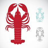 Vector image of an lobster