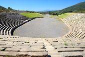 The Stadium With Mausoleum In Ancient Messene (messinia), Peloponnes, Greece