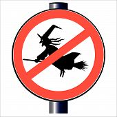 No Witches Traffic Sign.eps