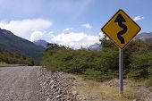 Road sign in Patagonia