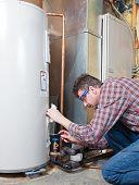 Manutenção de aquecedor de água