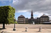 Christiansborg Castle With Courtyard