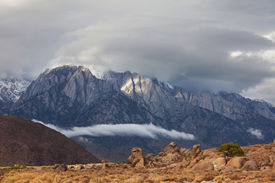 stock photo of mt whitney  - Alabama hills in California - JPG