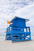 Siesta Key Beach Florida USA colorful lifeguard house