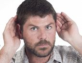 Deaf Man With Cochlear Implant