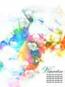 Abstract Watercolor floral