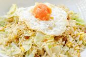 Fried Rice with Chinese Sausage and Salted Egg Yolk