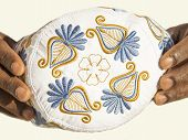 Embroidery on a traditional celebration hat - Africa - Feast of the Ramadan