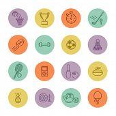 conjunto de ícones do esporte minimalista
